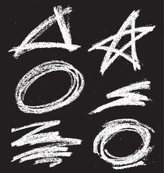 chalkshapes1 vector image