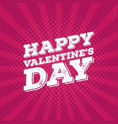 greeting card happy valentines day lettering on vector image