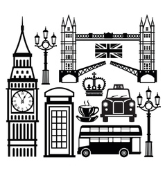 london icon vector image vector image