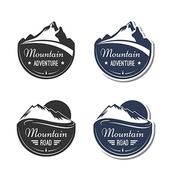 Mountain design elements vector image