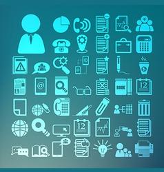Office icons set retina vector