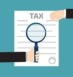 Tax inspector concept with hand flat style vector image vector image