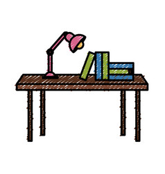 books on desk vector image vector image