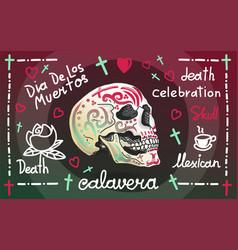 calavera greeting banner vector image vector image