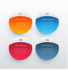 colorful infographic banners set template vector image