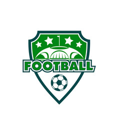 Football soccer club sport badge ball icon vector