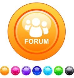 Forum circle button vector image vector image