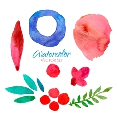 watercolor banners set vector image vector image