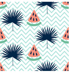 beautiful seamless pattern with watermelon vector image vector image
