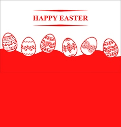 easter eggs back vector image vector image