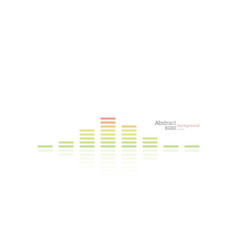 equalizer template on white vector image