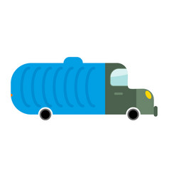 grbage truck isolated trash automobile on white vector image vector image