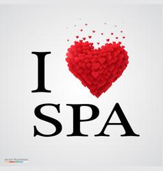 i love spa heart sign vector image