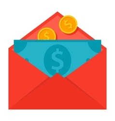 Message Money Transfer Concept vector image