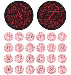 Swash Alphabet vector image vector image