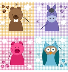 texture with animals vector image vector image