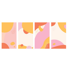 Abstract background design templates for social vector