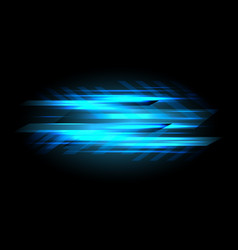 abstract blue light data speed power on black vector image