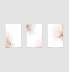 Abstract rose blush and grey liquid watercolor vector