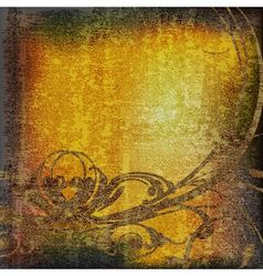abstract scorched vintage parchment vector image
