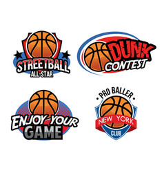 Basketball badge design vector