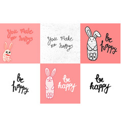 Be happy lettering vector