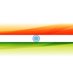 Beautiful indian flag background vector