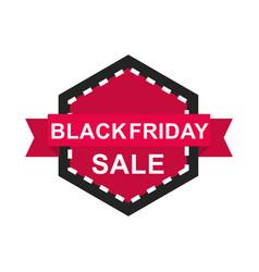 black friday sale discount label ribbon vector image