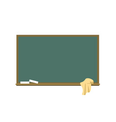 blackboard with a chalk and a rag flat vector image