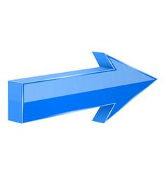 Blue arrow 3d next sign vector
