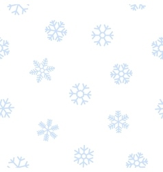 blue seamless background snowflakes vector image