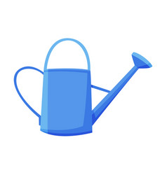 Blue watering can agriculture work equipment vector