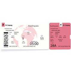 Boarding pass ticket template vector