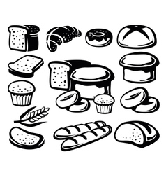 bread icon vector image
