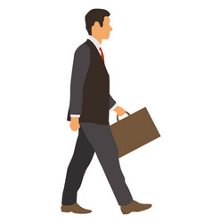 Businessman with a briefcase vector