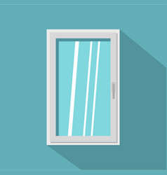 closed white window icon flat style vector image