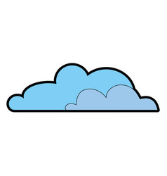 clouds weather image vector image