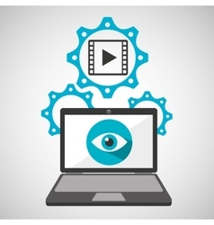 computer security film movie social network vector image