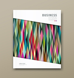 Cover magazine colorful triangle geometric pattern vector