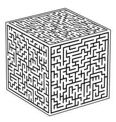 Cubic maze icon vector