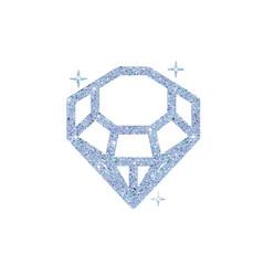Diamond glitter shiny crystal vector