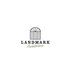 Door vintage logo design - vintage architecture vector