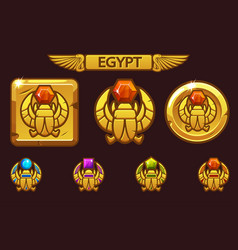 Egyptian scarab symbol pharaoh with colored vector