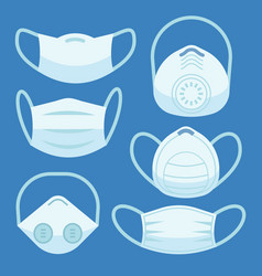 face pollution mask medical masks smog dust vector image