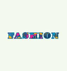 Fashion concept word art vector