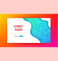 fast food menu landing page vector image