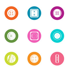 Fastener icons set flat style vector