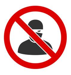 Flat no ninja icon vector