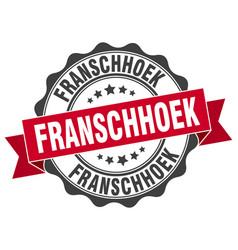franschhoek round ribbon seal vector image