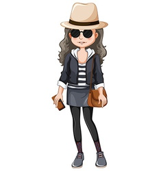 Girl hipster vector